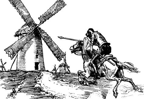 G.A.Harker. Don Quixote: Windmill