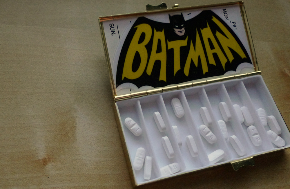 Bruce Wayne had other rather more exotic coping mechanisms than psychotherapy.