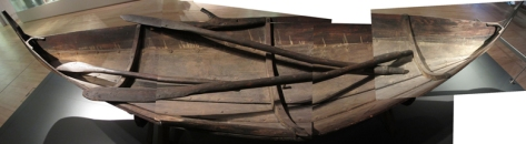 Outside the exhibition sits the reconstruction of a boat found in a grave in Årby, Sweden. Here is a photograph.