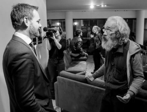 David Rickerby and Aarhus' Mayor Jacob Bundgaard at S(h)ave Dave LIVE, November 12, 2013 (Photo: Jonas Høholt)